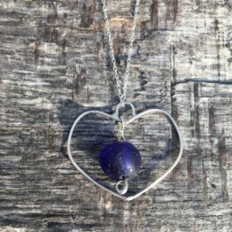 Chilli Designs Blue Heart Pendant