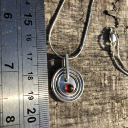 Chilli Designs Garnet Circles Pendant 2