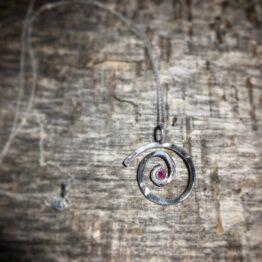 Chilli Designs Ruby Swirl Pendant 1