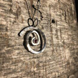 Chilli Designs Ruby Swirl Pendant 2