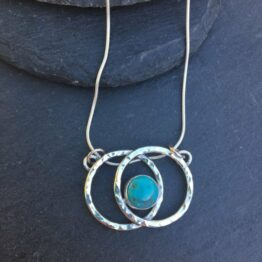 Chilli Designs Turquoise Matrix Pendant