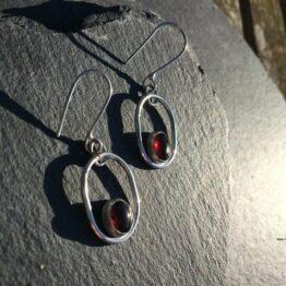 Chilli Designs Garnet Drop Earrings