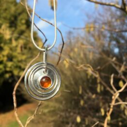 Chilli Designs Amber Circle Pendant