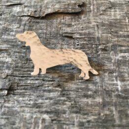Chilli Designs sausage dog brooch