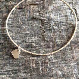 Chilli Designs Silver Heart Bangle 1