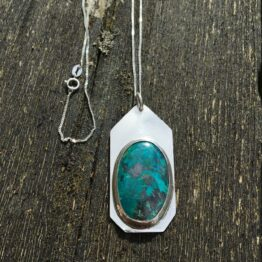 Chilli Designs azurite pendant