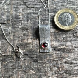 Chilli Designs garnet textured pendant
