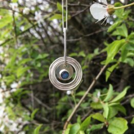 Chilli Designs opal concentric circle pendant