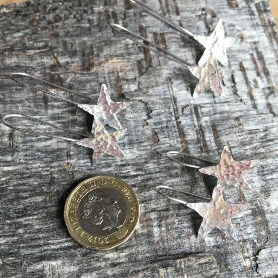 Chilli Designs star drop earrings