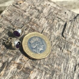 Chilli Designs amethyst studs