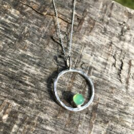 Chilli Designs chrysoprase circle necklace