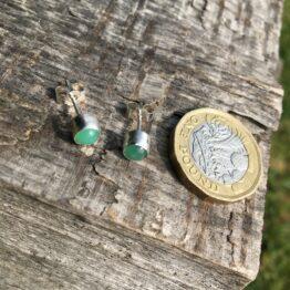 Chilli Designs chrysoprase stud earrings