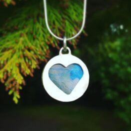 Chilli Designs shattuckite heart pendant
